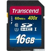 Карта памяти Transcend SDHC Class 10 UHS-I Premium 16Gb (TS16GSDU1)