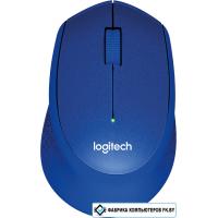 Мышь Logitech M330 Silent Plus (синий) [910-004910]