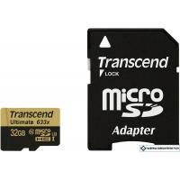 Карта памяти Transcend microSDHC Ultimate 633x UHS-I U3 (Class 10) 32GB (TS32GUSDU3)