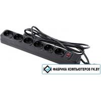Сетевой фильтр ExeGate LINE 6 розеток, черный, 5 м (SP-1600B)
