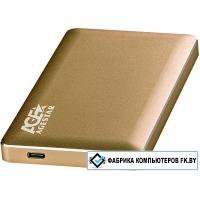 Бокс для жесткого диска AgeStar 3UB2A16C (золотистый)