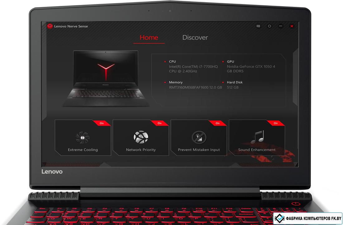 Ноутбук Lenovo Legion Y720-15IKB (80VR008BRK) I7-7700HQ/8GB/1TB/15.6