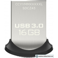 USB Flash SanDisk Ultra Fit 16GB [SDCZ43-016G-GAM46]