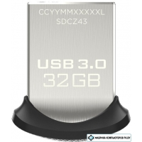 USB Flash SanDisk Ultra Fit 32GB [SDCZ43-032G-GAM46]