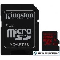 Карта памяти Kingston microSDXC (Class 10) U3 128GB + адаптер [SDCA3/128GB]