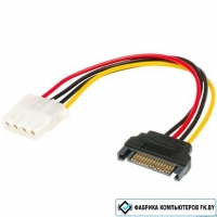 4 Pin Molex Female to 15 Pin SATA Male Connector (AK-CBPW03-15)