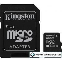 Карта памяти Kingston microSDHC 16 Гб (SDC4/16GB)