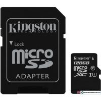 Карта памяти Kingston Canvas Select SDCS/128GB microSDXC 128GB (с адаптером)