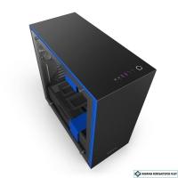 Корпус NZXT H700i Matte Black/Blue [CA-H700W-BL]