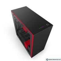 Корпус NZXT H700i Matte Black/Red [CA-H700W-BR]