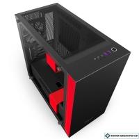 Корпус NZXT H400i Matte Black/Red  [CA-H400W-BR]