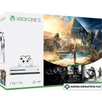 Игровая приставка Microsoft Xbox One S Assassin's Creed: Истоки, Tom Clancy's Rainbow Six Siege 1TB