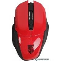 Мышь Jet.A Comfort OM-U38G (черный/красный)