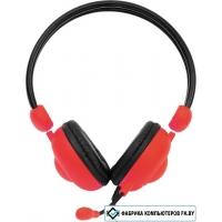 Наушники с микрофоном CrownMicro CMH-942 (красный)