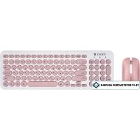 Мышь + клавиатура Jet.A SmartLine KM30 W (белый/розовый)