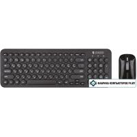 Мышь + клавиатура Jet.A SmartLine KM30 W (черный)