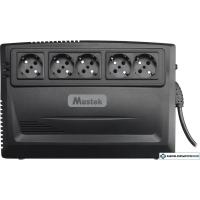 Источник бесперебойного питания Mustek PowerMust 600 Plus Schuko 600-LED-LI-R10