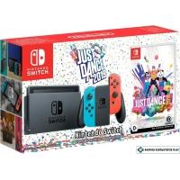 Игровая приставка Nintendo Switch Just Dance 2019 (красный/синий)