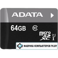 Карта памяти A-Data Premier microSDXC UHS-I U1 Class 10 64GB (AUSDX64GUICL10-R)