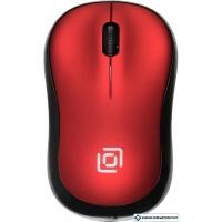 Мышь Oklick 655MW (черный/красный)