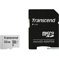Карта памяти Transcend microSDHC 300S 32GB + адаптер