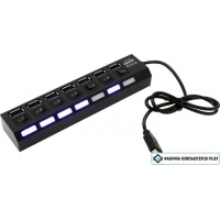 USB-хаб 5bites HB27-203PBK