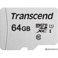 Карта памяти Transcend microSDXC 300S 64GB TS64GUSD300S