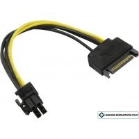 Переходник Кабель питания 1x SATA — 6 pin PCIe 6 pin PCIe