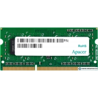 Оперативная память Apacer 4GB DDR3 SODIMM PC3-12800 AS04GFA60CAQBGC