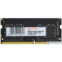 Оперативная память QUMO 8GB DDR4 SODIMM PC4-19200 QUM4S-8G2400P16