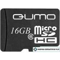 Карта памяти QUMO microSDHC (Class 6) 16GB (QM16GMICSDHC6)