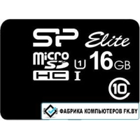 Карта памяти Silicon-Power microSDHC Elite UHS-1 (Class 10) 16GB (SP016GBSTHBU1V10)