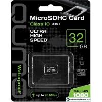 Карта памяти QUMO microSDHC QM32GMICSDHC10U1NA 32GB