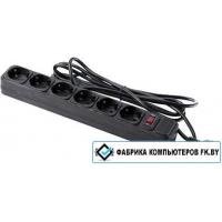 Сетевой фильтр ExeGate LINE 6 розеток, черный, 1.8 м (SP-600B)