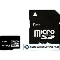 Карта памяти Smart Buy microSDHC (Class 4) 8 Гб + SD адаптер (SB8GBSDCL4-01)