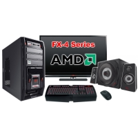"""Компьютер Игровой c монитором 24"""" AMD 17696"""