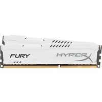 Оперативная память Kingston HyperX Fury White 2x8GB KIT DDR3 PC3-12800 (HX316C10FWK2/16)