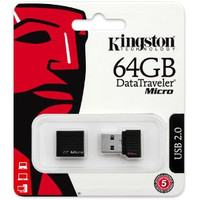 USB Flash Kingston DataTraveler Micro 64GB Black (DTMCK/64GB)