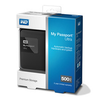 Внешний жесткий диск WD My Passport Ultra 500GB Black (WDBBRL5000ABK)