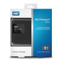 Внешний жесткий диск WD My Passport Ultra 1TB Black (WDBGPU0010BBK)