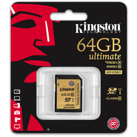 Карта памяти Kingston SDXC Ultimate UHS-I U1 (Class 10) 64GB (SDA10/64GB)