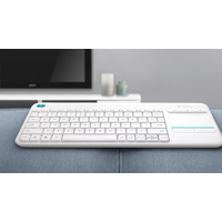 Клавиатура Logitech Wireless Touch Keyboard K400 Plus White (920-007148)
