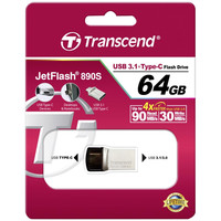 USB Flash Transcend JetFlash 890S USB3.1 + Type-C 64GB [TS64GJF890S]