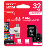 Карта памяти GOODRAM ALL in ONE microSDHC (Class 10) 32GB [M1A4-0320R11]